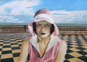 Joan Crawford Paintings - Alone With Joan by Jo King