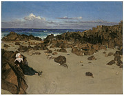 Low Tide Paintings - Alone with the tide by James Abbott McNeill Whistler