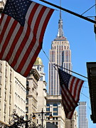 U S Flag Originals - Along Fifth Avenue by Ira Shander
