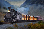 Caboose Posters - Along The Animas Colorado Train Poster by R christopher Vest