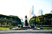 Benjamin Franklin Digital Art - Along the Benjamin Franklin Parkway in Philadelphia by Bill Cannon