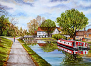 Kingdom Mixed Media Prints - Along the Canal Print by Andrew Read