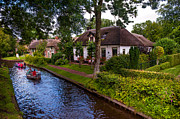 Interesting Architecture Posters - Along the Canal. Giethoorn. Netherland Poster by Jenny Rainbow