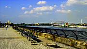 Benches Photos - Along the East River by Madeline Ellis