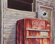 Coca-cola Signs Art - Along the Highway to Anywhere by Daydre Hamilton