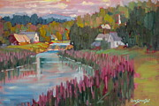 Berkshires Paintings - Along The Housatonic by Len Stomski