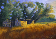 Lincoln Paintings - Along the Lincoln Highway by Jerry McElroy