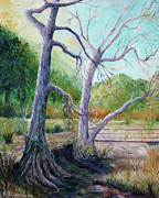 Riverbed Paintings - Along the path by Jackie Cleveland