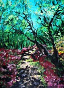 Judy Via-wolff Art - Along the Path by Judy Via-Wolff