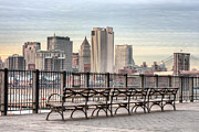 New York City Skyline Art - Along the Promenade  by JC Findley