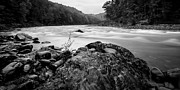 Deerfield River Metal Prints - Along the River Metal Print by Adam Caron