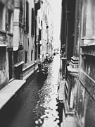 Black And White Photograph Of  Posters - Along the small canal of Venice Poster by Ivy Ho