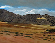 Israel Painting Originals - Along the way to Eilat by Linda Feinberg