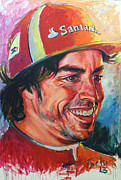 Spaniards Paintings - Alonso by Tachi Pintor