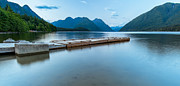 Mountain Reflection Lake Summit Mirror Prints - Alouette Lake Dock Print by James Wheeler