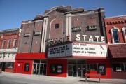 Blue Bricks Photos - Alpena Michigan - State Theater by Frank Romeo
