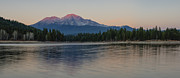 Alpenglow Art - Alpenglow at the Lake by Loree Johnson