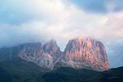 Alpenglow Art - Alpenglow on the Dolomites by Matteo Colombo