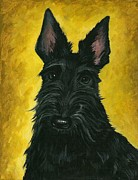 Scottie Portrait Paintings - Alpha Scott by Margaryta Yermolayeva
