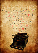 Typewriter Mixed Media - Alphabet by Alla Albert