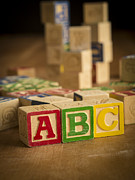 Abc Framed Prints - Alphabet Blocks Framed Print by Edward Fielding