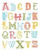 Shower Digital Art - Alphabet Poster by Jaime Friedman