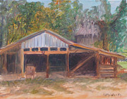 Shed Painting Framed Prints - Alpine Groves Fruit Packing Shed Framed Print by Patty Weeks