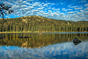 Haybales Art - Alpine Lake Fishing by Robert Bales