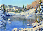 Colorado Mountain Stream Paintings - Alpine Lake by Rick Hansen