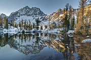 Alpine Prints - Alpine Lakes Autum Reflection Print by Mike Reid