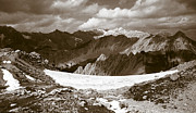 Black And White Landscape Photograph Posters - Alpine Landscape Poster by Frank Tschakert