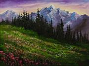 Alpine Meadow Print by C Steele