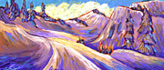 Ski Painting Originals - Alpine Mornings by Sara Zimmerman