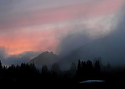 Mt Rainier National Park Prints - Alpine Sunset Print by Angie Vogel