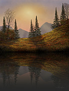 Frank Wilson Prints - Alpine Sunset Reflections Print by Frank Wilson