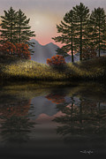Frank Wilson Prints - Alpine View Reflections Print by Frank Wilson