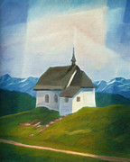 Alps Images Posters - Alps Chapel Poster by Lutz Baar