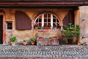Alsace Framed Prints - Alsatian Home in Kaysersberg France Framed Print by Greg Matchick