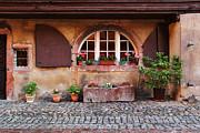 Alsatian Home In Kaysersberg France Print by Greg Matchick