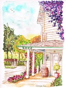 Vineyard Art Painting Posters - Alta-Maria-Vineyard-in-Los Olivos-CA Poster by Carlos G Groppa