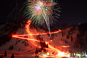 Torchlight Framed Prints - Alta New Year Celebration and Torchlight Parade Framed Print by Brett Pelletier