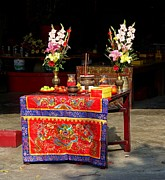 Yali Shi - Altar at a Temple in...