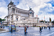 Winter Travel Prints - Altare della Patria - Romes Wedding Cake Print by Mark E Tisdale