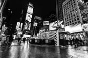 Monotone Prints - Alternate view of Times Square  Print by John Farnan