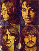 Fab 4 Posters - Alternative Beatles Poster by Stephen Lawrence Mitchell