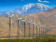 Palm Springs Framed Prints - Alternative Power Wind Turbines Framed Print by Susan  Schmitz
