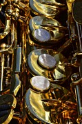 Marching Band Metal Prints - Alto Sax Reflections Metal Print by Ken Smith