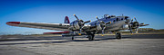United States Army Air Forces Posters - Aluminum Overcast On The Tarmac Poster by F Leblanc