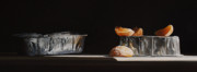 Realistic Paintings - Aluminum With Clementine by Larry Preston