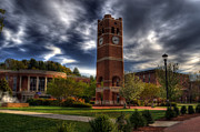 Cullowhee Framed Prints - Alumni Tower-WCU Framed Print by Greg and Chrystal Mimbs